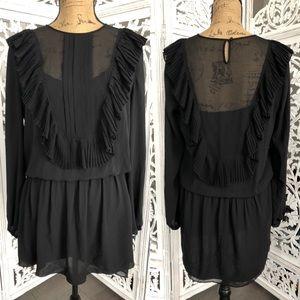BCBGMAXAZRIA black blouse top M